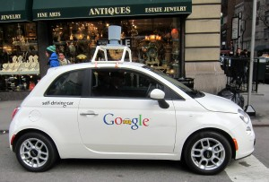 Google Car Hit by distracted driver